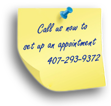 Call us now to set up an appointment 407-293-9372